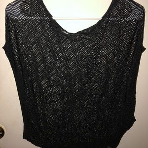 Charlotte Russe black knitted top. Size M